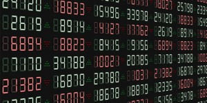 Stock scoreboard. vector illustration